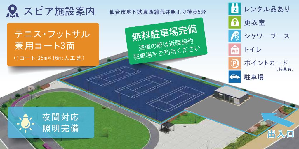 仙台荒井東1号公園スポーツパークスピア施設案内